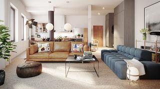 文艺复古混搭公寓效果图