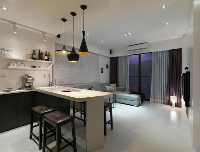 家居客厅现代简约吊顶效果图