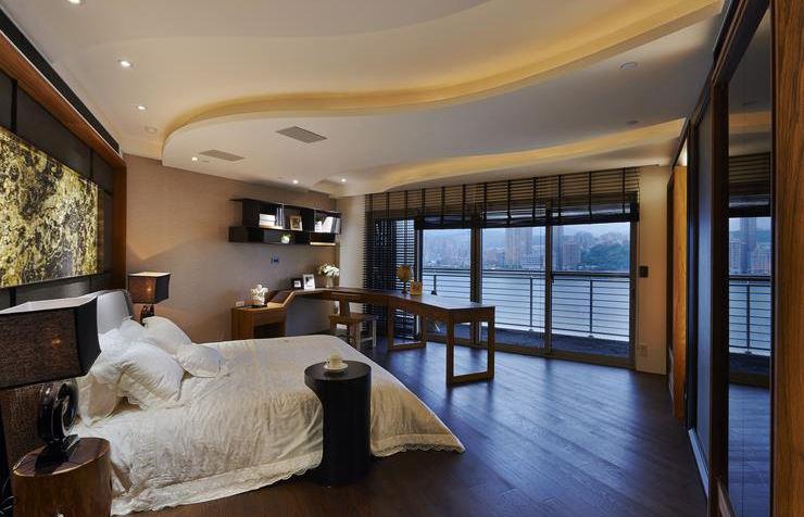 个性浪漫美式 卧室吊顶效果图