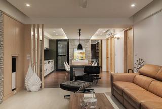 67平现代休闲二居装修设计