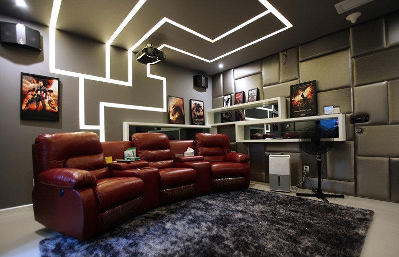 时尚后现代风 家庭影院灯带设计