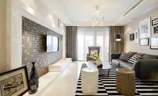 时尚设计现代家装客厅装修效果图
