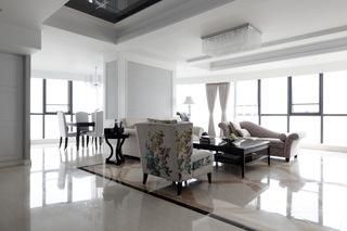 欧式现代公寓客厅家装图