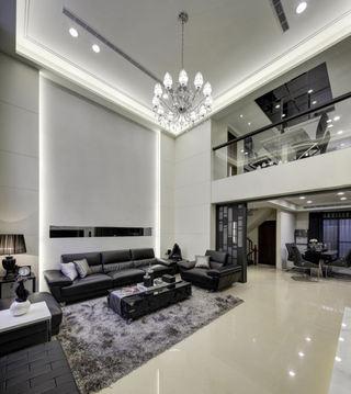 黑白简约现代复式家装效果图