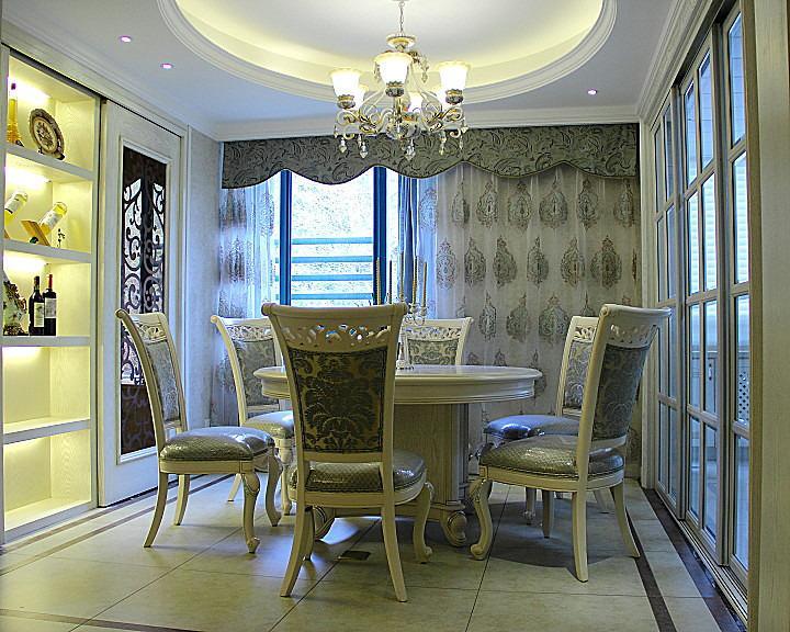 精美华丽欧式风格餐厅酒柜设计