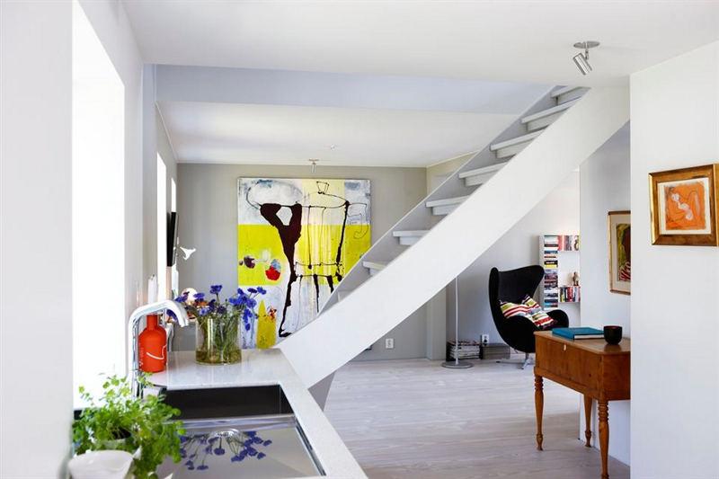 简约北欧风复式楼梯效果图