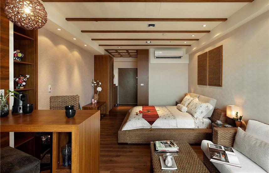 最新美式乡村风格家居卧室吊顶装修效果图