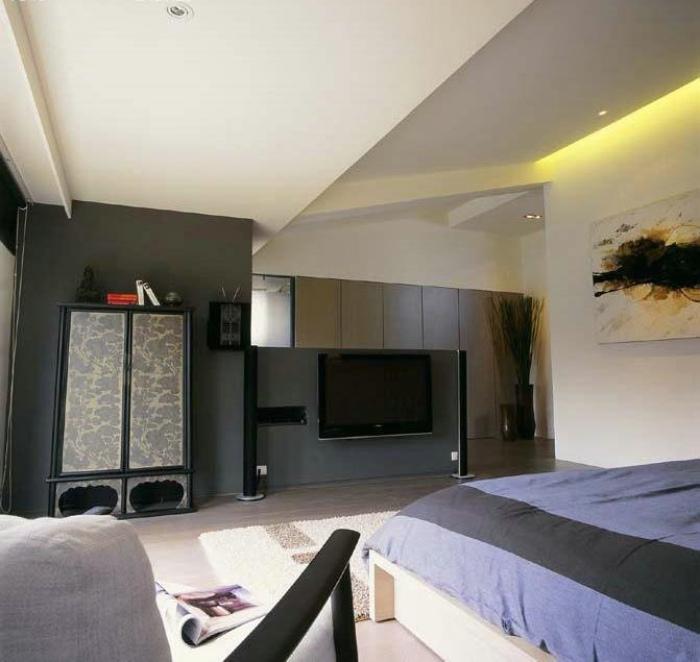 摩登混搭风 卧室电视背景墙设计