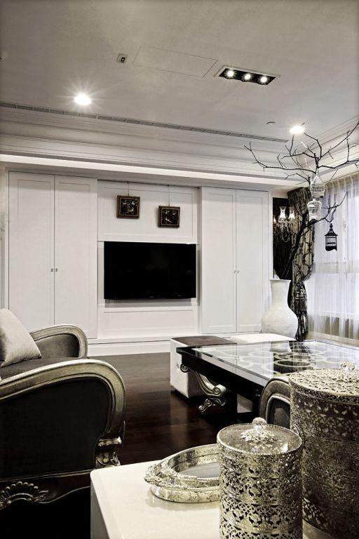 简欧式客厅电视背景墙效果图