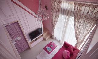 粉色浪漫温馨简约复式装修美图欣赏