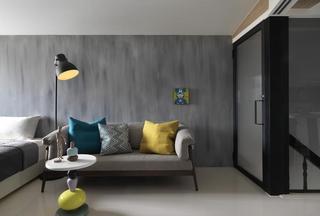 简约灰色系 单身公寓效果图