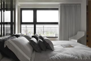 时尚简约风 卧室窗帘效果图