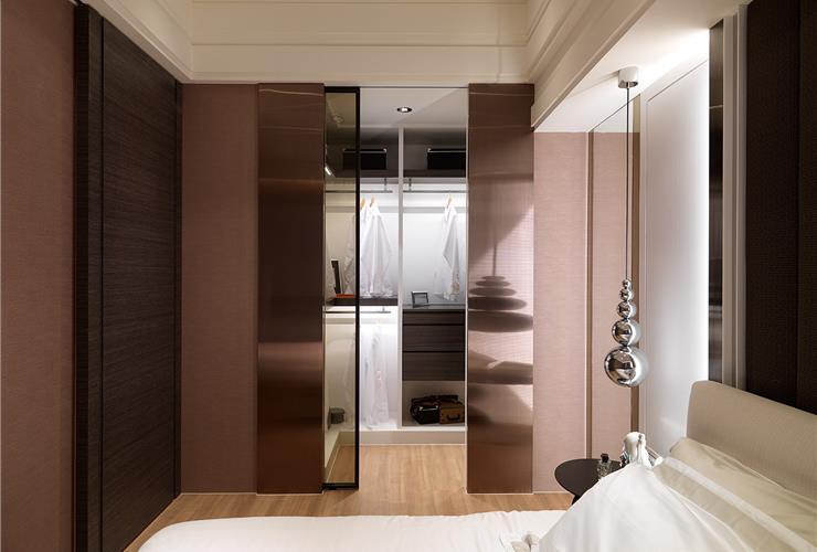 中性色现代风 三室两厅效果图