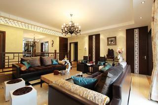 时尚中式新古典别墅装潢设计