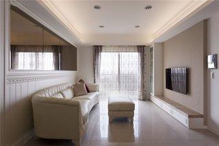 纯净简欧装修风格三居室设计装潢效果图