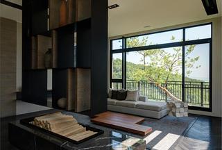 现代日式风小别墅室内装修图