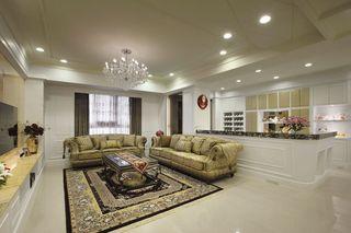 典雅大气欧式风格别墅室内装修效果图