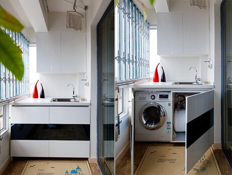 现代时尚家居阳台洗衣房设计