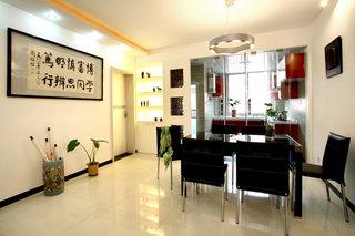温馨现代简中式两室两厅设计