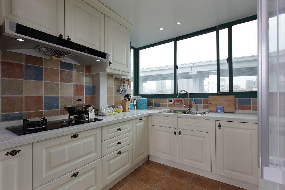 田园家装厨房窗户设计效果图