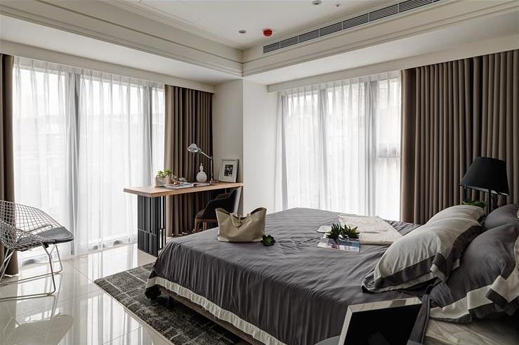 时尚明亮简欧风格 卧室效果图