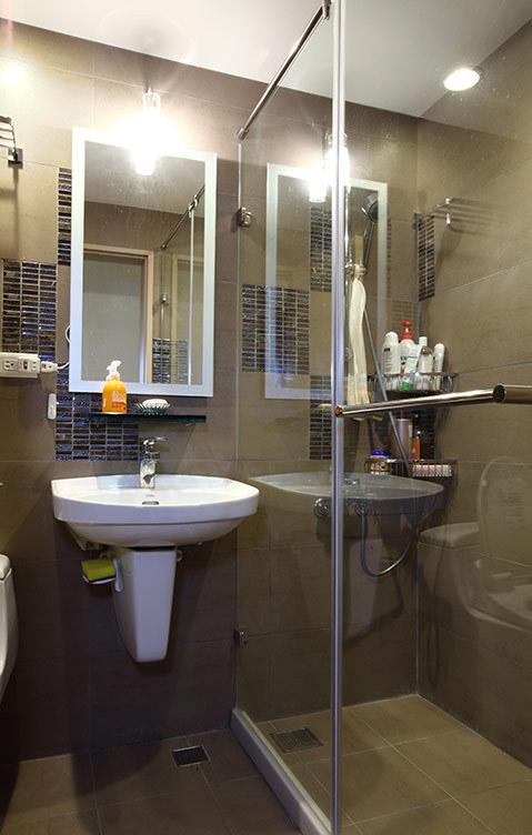 简约现代卫生间洗脸盆安装