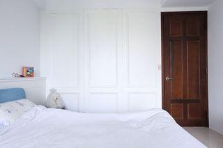 简约现代卧室门装饰图