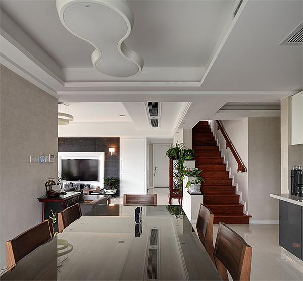 现代中式风实木楼梯欣赏