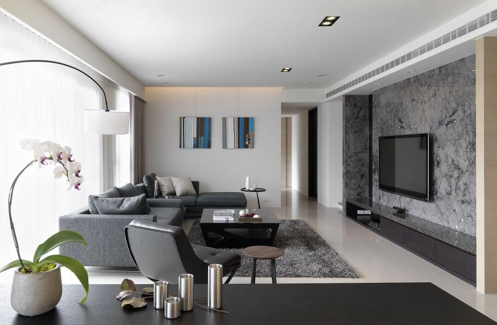 最新现代装修客厅效果图