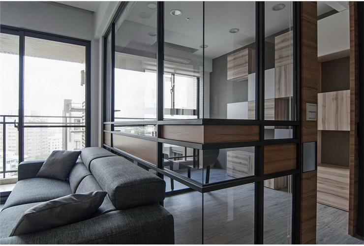 简约宜家设计风格家居室内玻璃隔断装饰效果图