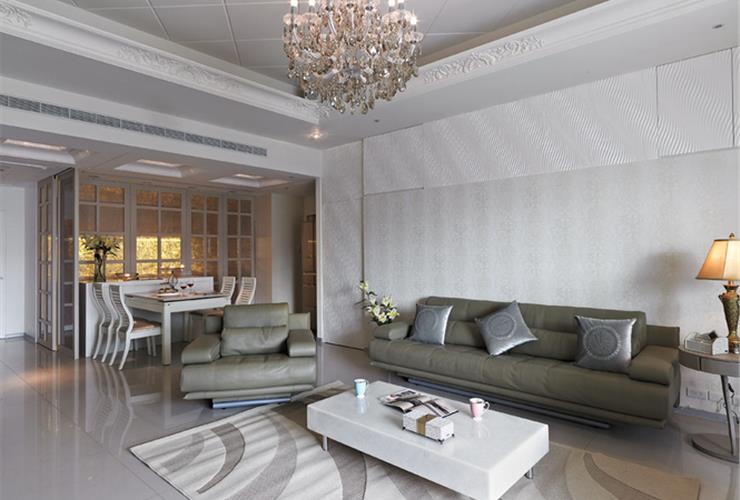 清新简欧风格公寓室内装修效果图