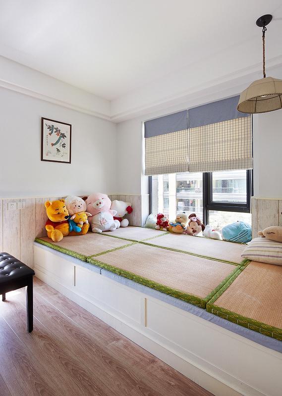 清新现代风榻榻米儿童房设计
