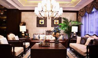 138平奢华深咖色法式新古典风格实木三室两厅设计