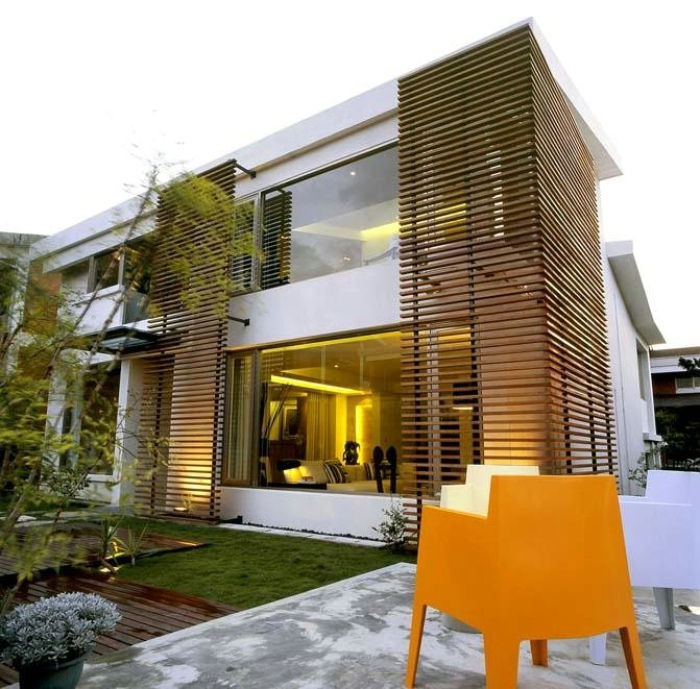 时尚休闲现代风 别墅外墙设计