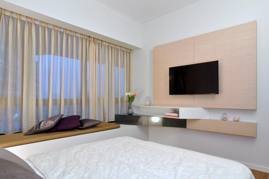 简约时尚设计卧室电视背景墙装修效果图