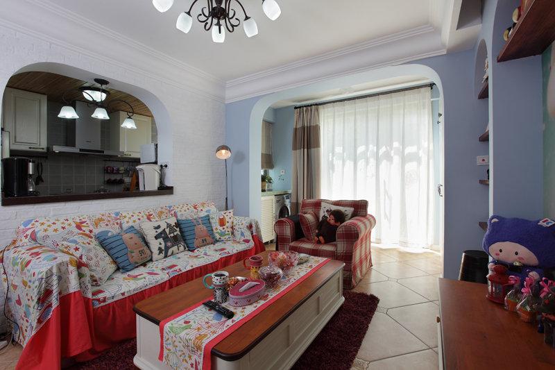 美式乡村地中海公寓装饰效果图