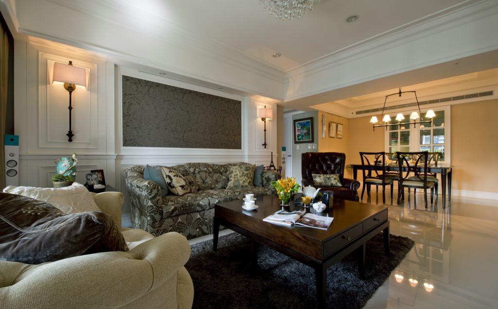 美式新古典 三室两厅混搭效果图