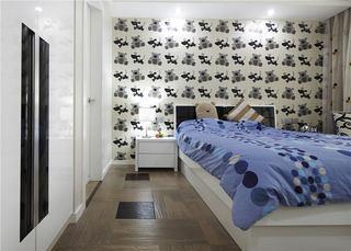 时尚现代儿童房背景墙设计