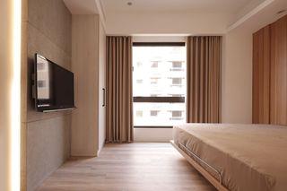 日式风格卧室窗帘装饰效果图