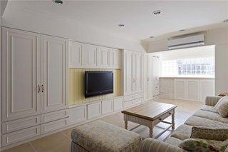86平米纯净简约二居室设计装修样板房