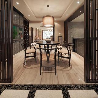 休闲典雅中式餐厅设计装潢欣赏图