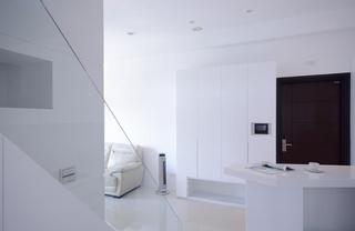 白色极简家居柜子效果图