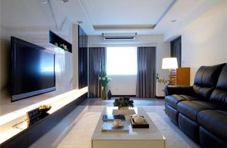 简约时尚现代三居装修效果图