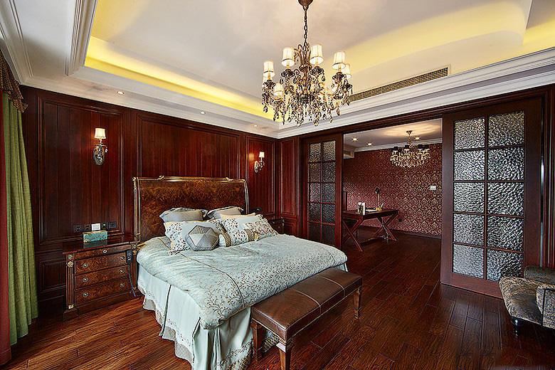 奢华美式新古典卧室效果图