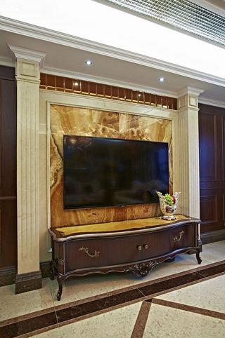 复古欧式设计 大理石电视背景墙图