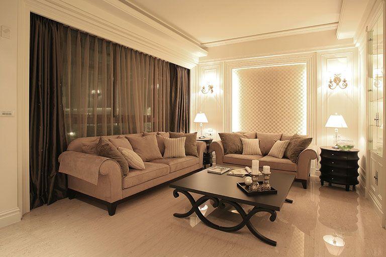 时尚现代设计客厅灯光效果图