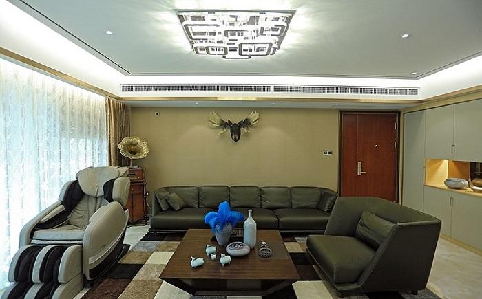 现代时尚设计客厅灯饰装潢效果图