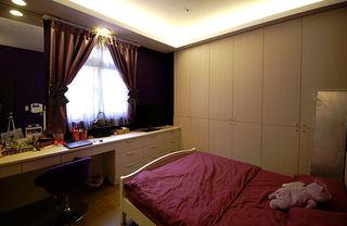 简约韩式卧室窗帘效果图