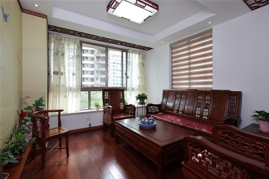 大气古典中式风格二居室内红木家具装饰美图