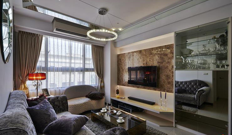 美式风格家装客厅装修图